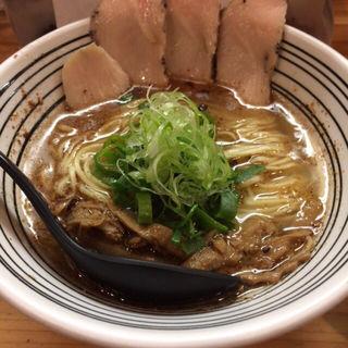 鶏清湯スープ使用 しおらーめん(極麺 青二犀 (ゴクメン アオニサイ))