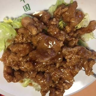 鶏の唐揚げの黒酢(日光 翠園 (スイエン))
