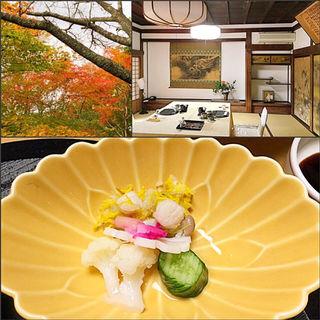 酢の物 菊花和え(竹林院群芳園 (チクリンイングンポウエン))