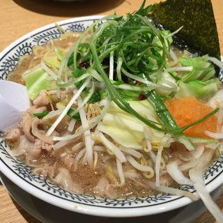 熟成醤油 野菜肉そば 819円(丸源ラーメン 姫路今宿店 )