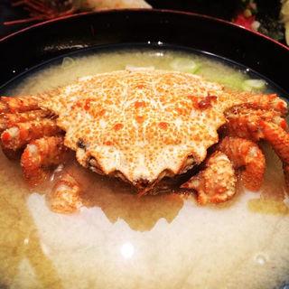 毛蟹の味噌汁(すしざんまい 六本木ロアビル前店 )