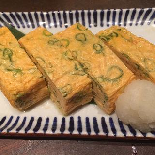 京都九条葱の出汁巻き玉子(魚米 新宿店)