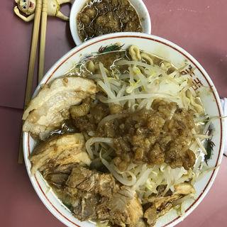 肉並 ニンニクナシヤサイマシアブラマシマシカラメ(ラーメン荘 おもしろい方へ )