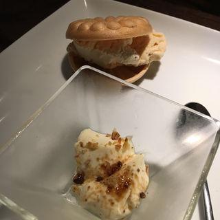キャラメルアイスと豆乳のパンナコッタ(道頓堀 てっぱん豊島家 )