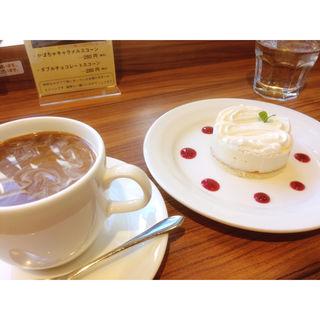 チーズケーキ(本棚珈琲 )