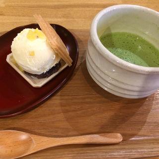 栗アイス最中セット(北斎茶房)