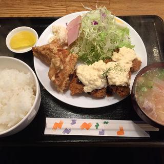 カキフライ定食(ごはんカフェきなこ)
