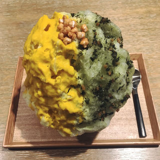 玄米茶と南瓜 あられ添え(古美珈琲 (COBI COFFEE))