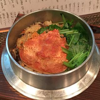 背子ガニの釜炊き御飯(いわ月 (イワヅキ))