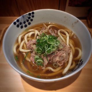 肉うどん(だし茶漬け+肉うどん えん エトモ大井町店)