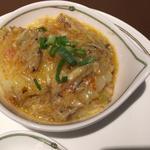 大ぶり海老と上海蟹ミソの炒め