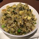 上海蟹と高菜の炒飯