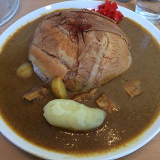 とろ肉ライスカレー(とろ肉つけ麺 魚とん (【旧店名:とろ肉つけ麺 蔦八】))