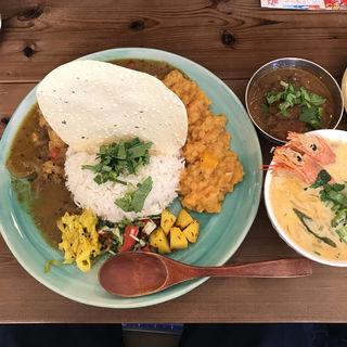 カレー3種盛り(Curry&Spice青い鳥)