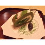 抹茶のロールケーキ(丸久小山園 西洞院店 (茶房 元庵))