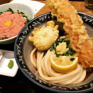 ネギトロ丼ちく玉天セット(釜たけうどん 八重洲北口店 )