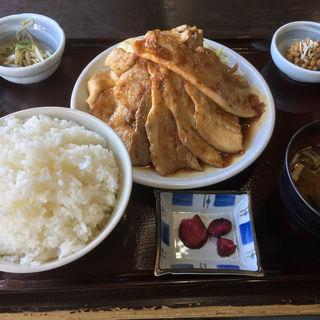 生姜焼き定食(ももどり伝説 盛岡南店)