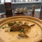 貝あさりのクラムチャウダー風煮込み麺
