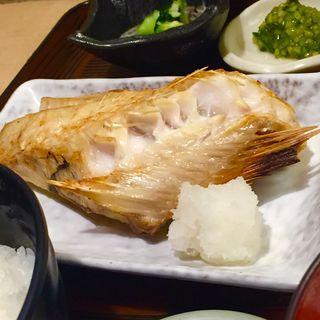 刺身盛りとかさごの定食(さわら )