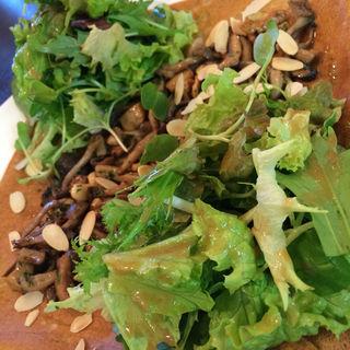 ナッツと信州の茸サラダガレット 林檎の花から採ったはちみつをかけて(ガレット エ ポムポム  (Galettes et Pomme Pomme))