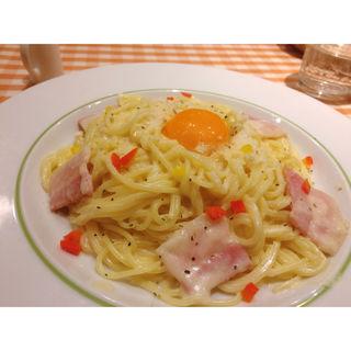 カルボナーラ(スパゲッティ食堂ドナ 新百合ヶ丘OPA店 )