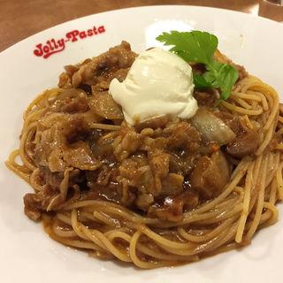 ポルチーニと牛肉の赤ワインソース(ジョリーパスタ 辻井 )
