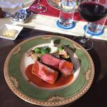 デジュネB メイン料理を魚肉と両方お召し上がり頂けます