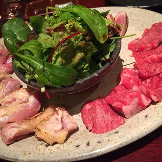 石焼 牛肉、鶏肉、鴨肉(創作和食 たのしや )