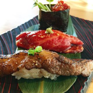 肉寿司三種盛り(京の焼肉処 弘 京都駅前店 (ヒロ))
