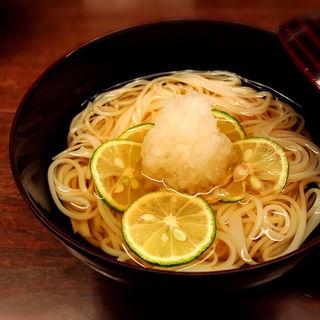 冷やし素麺すだちおろし(楽食酒 圓 (らくしょくしゅ まる))