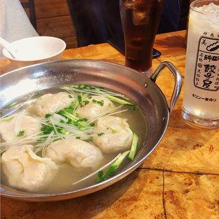 スープ水餃子 6ケ入 単品(神田餃子屋 本店 (カンダギョウザヤ))
