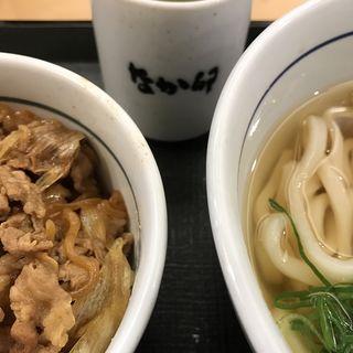 はいからうどんとミニ牛丼(なか卯 梅田東店 )