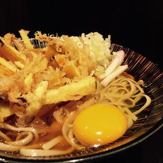 かき揚げ玉蕎麦(さ竹 恵比寿店)