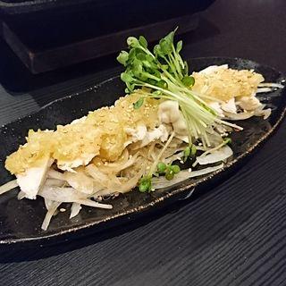 蒸し鶏ネギソース(博多餃子 チャオズ)