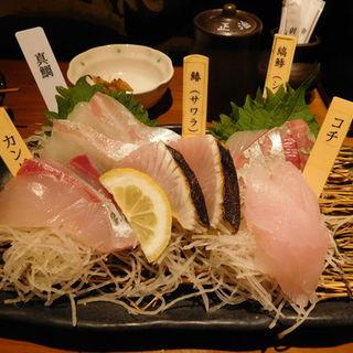 刺身盛り(とびっきり旨い酒と魚 東新漁港)