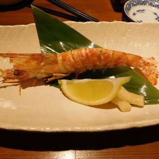 三河産の天然車海老の塩焼き(とびっきり旨い酒と魚 東新漁港)
