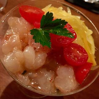赤海老と野菜のタルタル(コノ花まひろ )