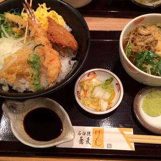 わさび串かつ盛丼セット(石臼挽蕎麦 げん 新大阪店)