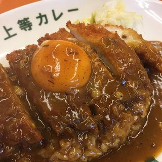チキンカツカレー 生卵トッピング(得正・上等カレー 岸和田店 )