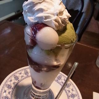 抹茶パフェ(ミニ)(カツカレーの店 Kappa (倉敷/洋食、喫茶))