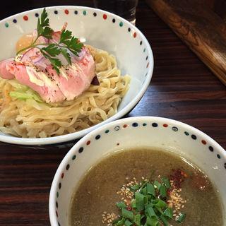 ブラウンマッシュルームのポタージュつけ麺(あじ玉)(らー麺 あけどや )