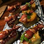 ホタルイカと茄子の味噌田楽