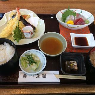 刺身と天ぷらの定食(小田原 魚國 )