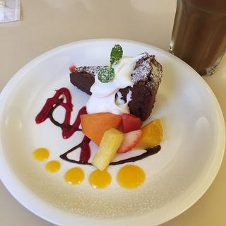 ガトーショコラ(カフェ ショコラ 三条御幸町 (Cafe Chocolat))