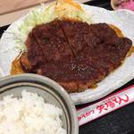 わらじとんかつ定食(名古屋名物 みそかつ 矢場とん NEOPASA岡崎店 )