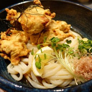 鶏天ぷらぶっかけうどん 冷や(麺工房北の )
