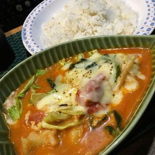 こんが〜り 焼きチーズのキーマカレー(ハバカーる。 )