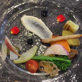 前菜盛り合わせ 3種類のソース(マンジャーレ 伊勢山 (【旧店名】ル・ジャルダン))