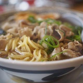 熟成醤油ラーメン 肉そば (煮卵、肉ダブル)(丸源ラーメン 田辺店)