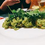 牡蠣のパクチーソース(ガラムマサラ)